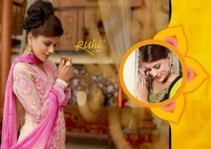 Brand New Home Ruhi Anarkali Clothes Selection 2014 For Ladies (1)