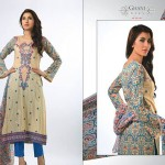Ghani Kaka Textile New Mid Summer Dress collection 2014 7