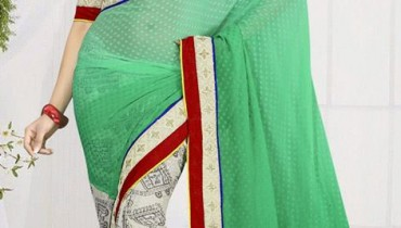 New Casual Wear Georgette Sarees Collection 2014 6