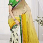 New Casual Wear Georgette Sarees Collection 2014 2