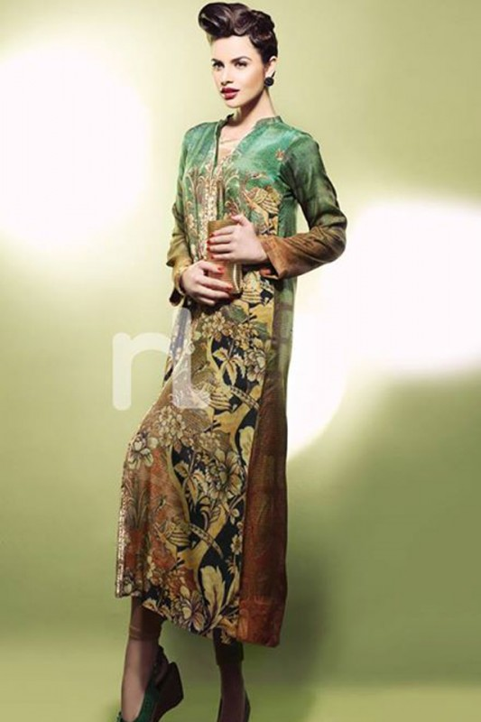 Nishat Fabrics Simple Use Attire Style 2014 (2)