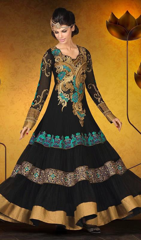 Party Wear Georgette Dresses Collection 2014 8