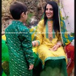 Samar Mehdi Designer Wear Mayoon Dresses Collection 2014 4