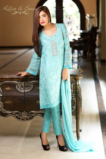 Sana Salman (Riffat & Sana)  New Summer Dresses Collection 2014 6