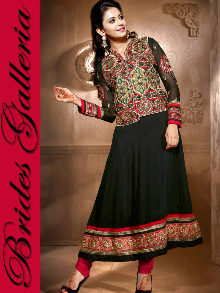 Sublime Georgette Anarkali Suits Collection 2014 1