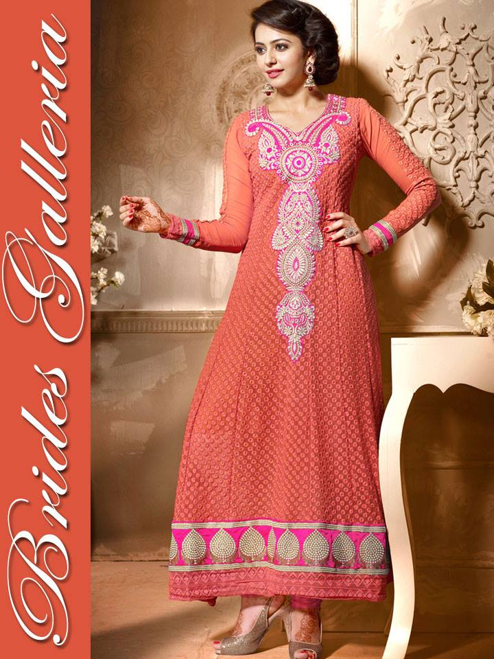 Sublime Georgette Anarkali Suits Collection 2014 3