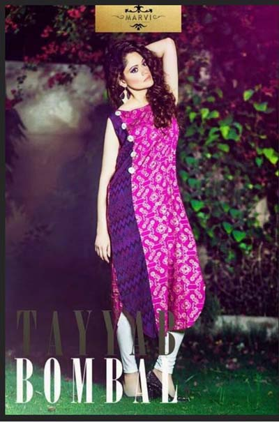 Tayyab Bombal Marvi Summer Females Attire Gallery 2014 (1)