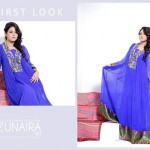 Zunaira's Lounge Party Wear Dress Collection 2014