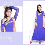 Zunaira's Lounge Party Wear Dress Collection 2014 2