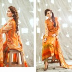 shariq Textileslibas crinkle dress collection 2014 6