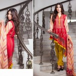 shariq Textileslibas crinkle dress collection 2014 7
