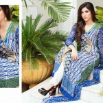 shariq Textileslibas crinkle dress collection 2014 8