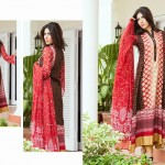 shariq Textileslibas crinkle dress collection 2014 9