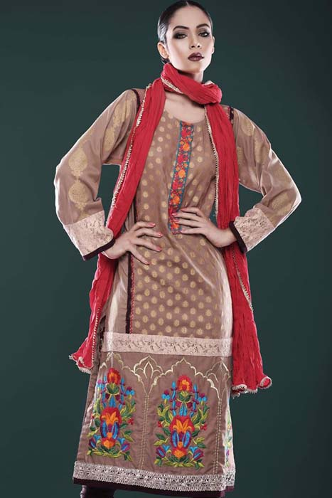 Big Eid Dresses Variety 2014 For Females  Cotton Ginny (1)