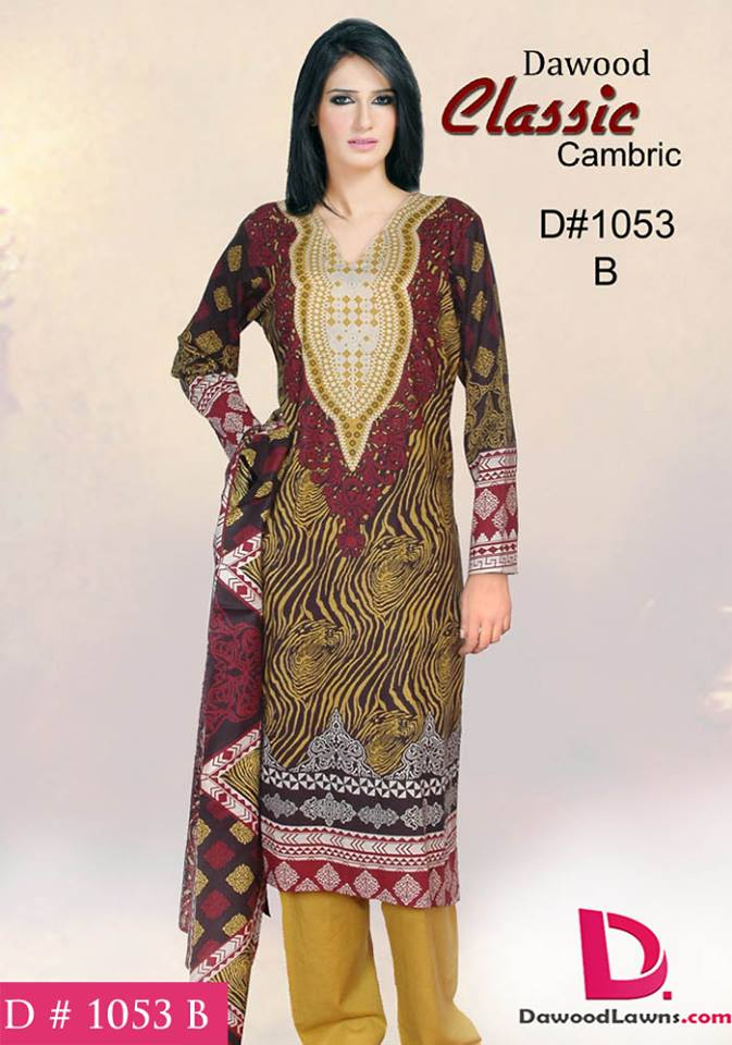Dawood Cotton Dress Collection 2014 10
