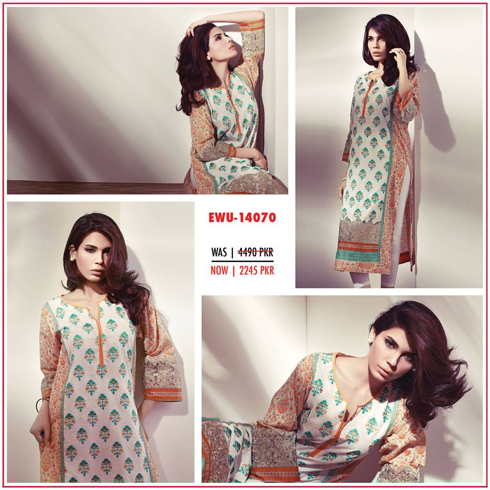 Ethnic by outfitters New Mid Summer Dresses Collection 2014 1