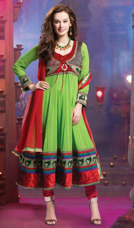 Evelyn Sharma - Bollywood Star Anarkali Frocks Choices 2014 (2)