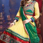 Evelyn Sharma - Bollywood Star Anarkali Frocks Choices 2014 (3)