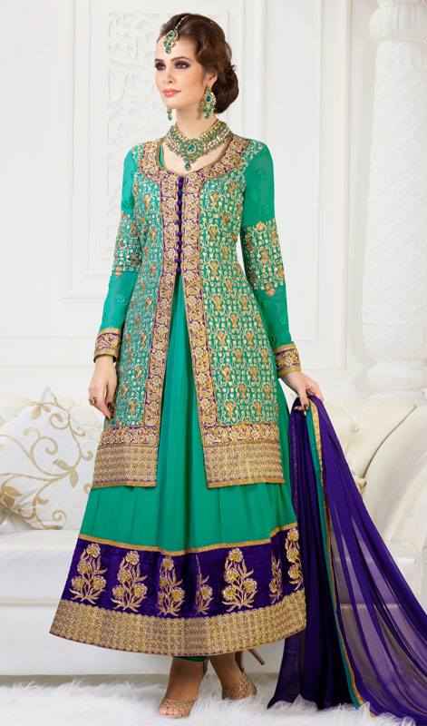 Exclusive Design Of Evening Wear Anarkali Suits 2014 6