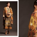 Fahad Hussayn Couture Printed Mid Summer Dresses Collection 2014 3