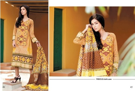 Fantastic Styles Firdous Khaddar Recreational Suits 2014 (2)