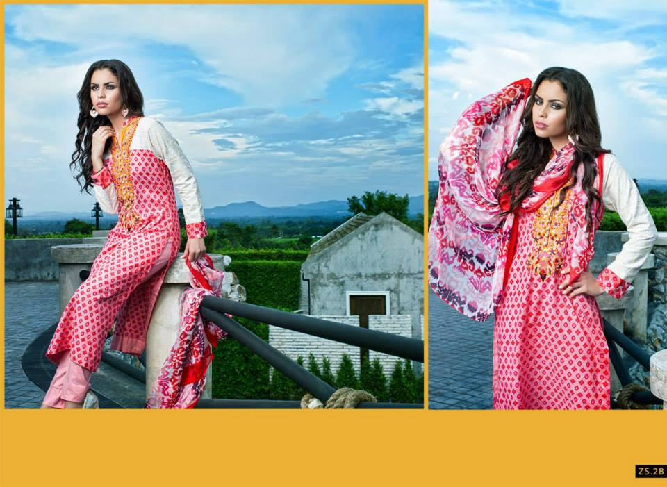 Kalyan Females Special Eid Lawn Outfits Style 2014 (2)