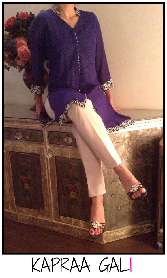 Kapraa Gali by Anum Jung Eid Dresses Collection 2014 1