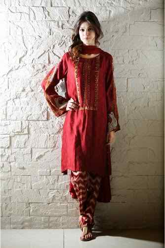 Maria B Special Eid Attractive Clothes 2014 (4)