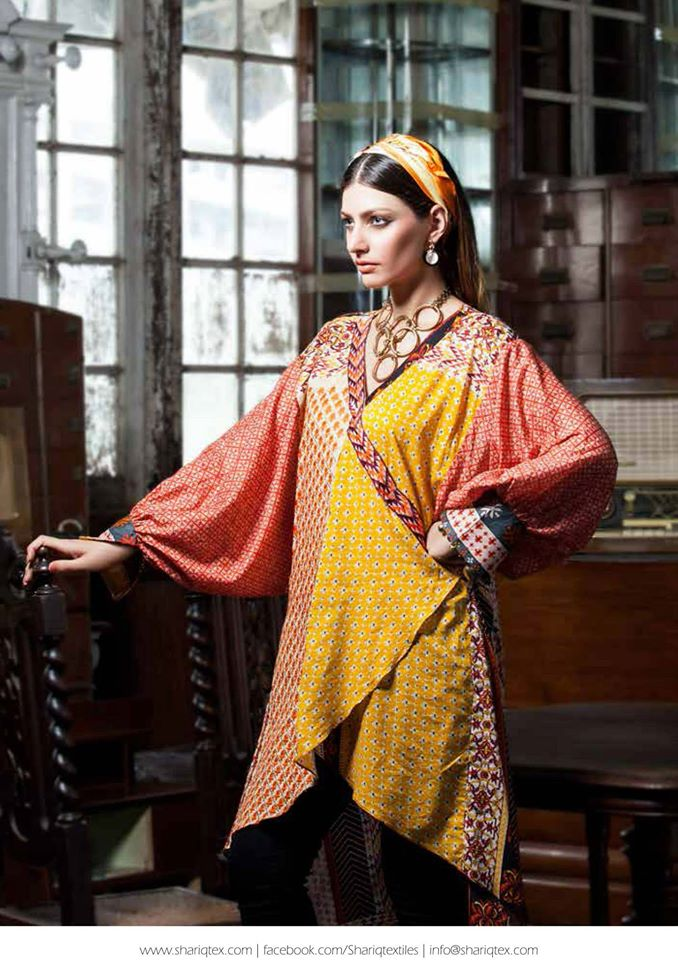 Rabea Kurti Collection 2014 By Shariq Textile 1