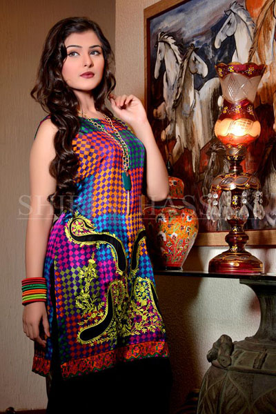 Shirin Hassan Females Special Eid Occasion Modern Outfits 2014 (3)