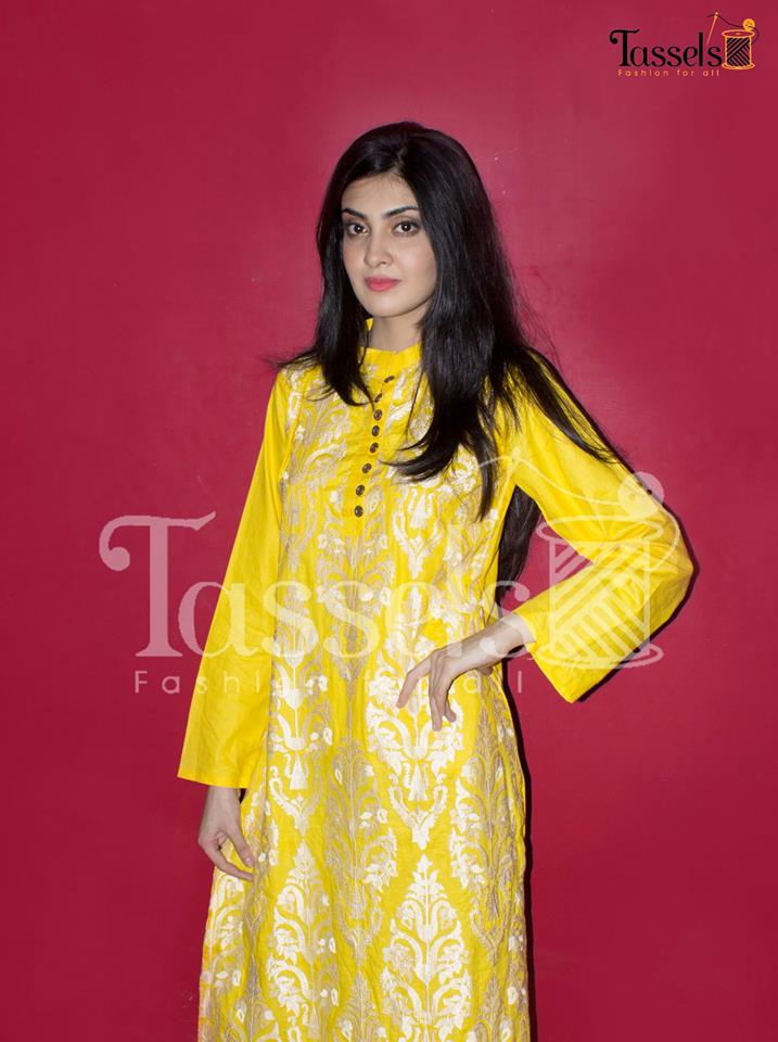 Tassels Eid Party Wear Dresses Colection 2014 7