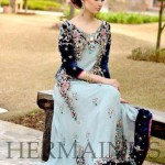 Uzma Babar Elegant Clothes 2014 For Women (1)