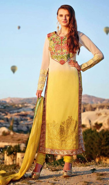 Wonderful Eid Fancy Churidar Outfits Concepts 2014-15 (6)
