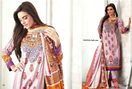 Firdous Clothes Autumn Attractive Prints 2014 For Girls (1)