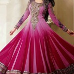 Georgette Anarkali Suits Collection 2014-15 5
