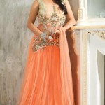 Kaneesha Beautiful Floor Lenght Frocks Collection 2014