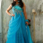 Kaneesha Beautiful Floor Lenght Frocks Collection 2014 3