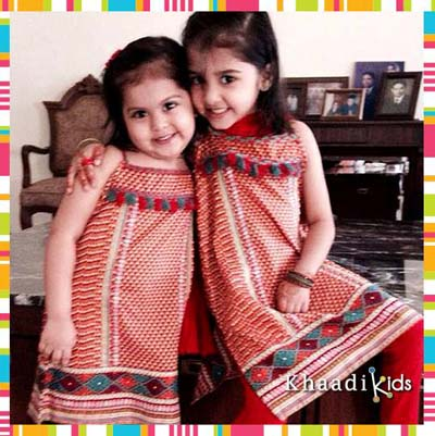 Khaadi kids wear dresses collection 2014-15 3
