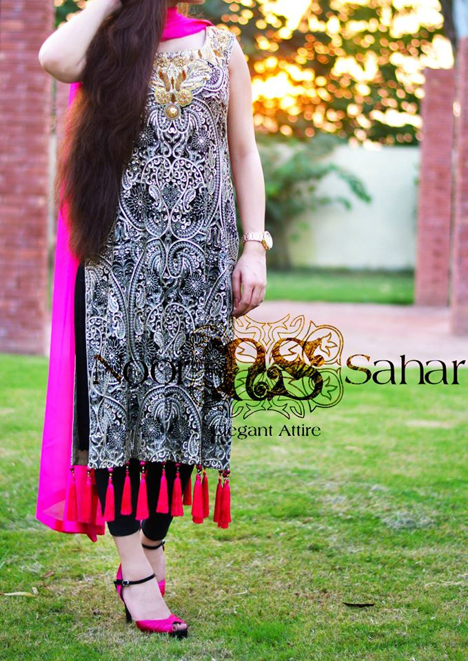 Noor Saharre pre fall dresses collection 2014-15 1