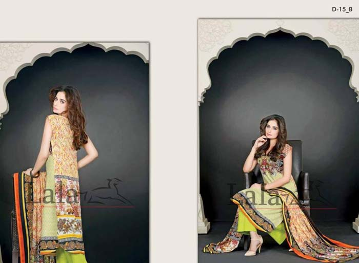Sana & Samia Attractive Concepts 2014-15 For Ladies by Lala Textile (2)