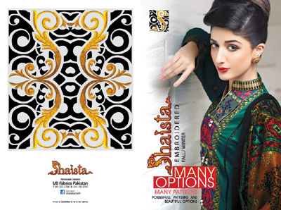 Shaista.cloth Winter Dresses Collection 2014-15