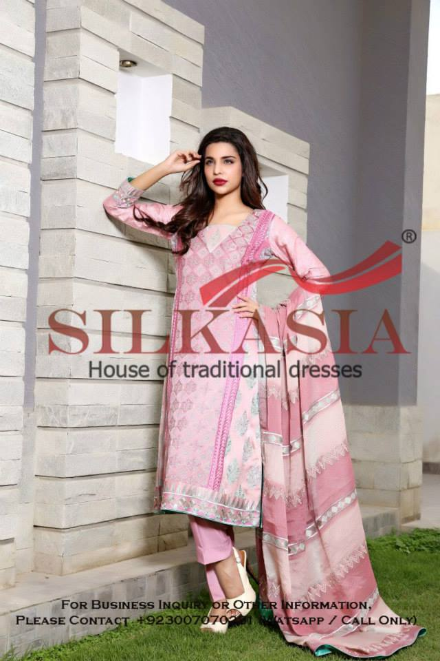 Silkasia Embroidered Dresses Collection 2014-15 10