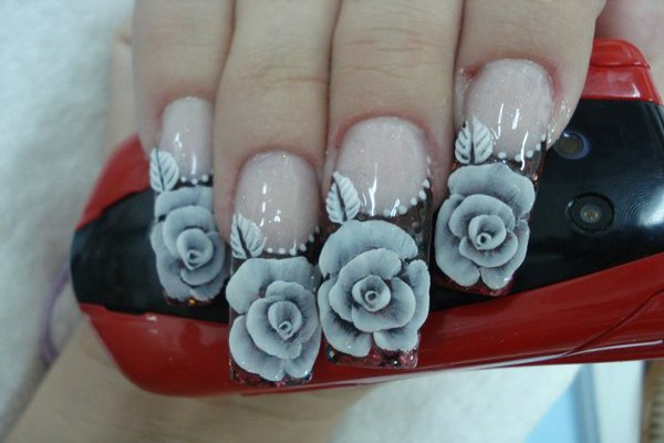 Suitable Rose Nail Fashion in Lovely Styles For Ladies (5)