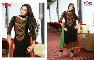 Zobi Fabrics Indian Party Wear Dresses Collection 2014-15 11