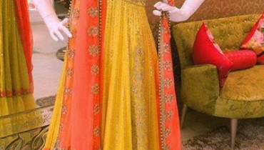 bridal mehndi dresses collection 2014-15