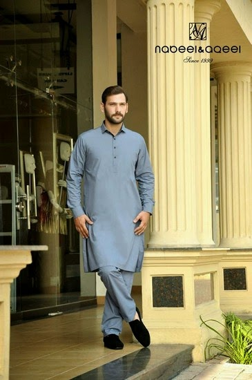 Attractive Nadeel & Aqeel Ideal Kurta Fashion 2015 (6)