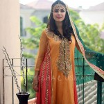 Ayesha And Usman Qamar mahendi Dresses Collection 2014-15 1