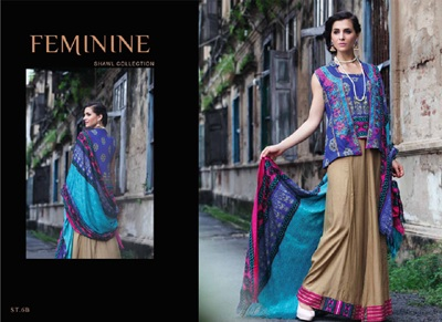 Feminine Winter Shawl Collection 2014-15 2