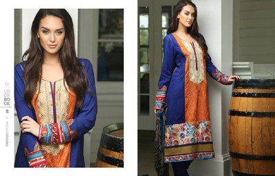 Firdous Winter Exclusive suits -2014 7