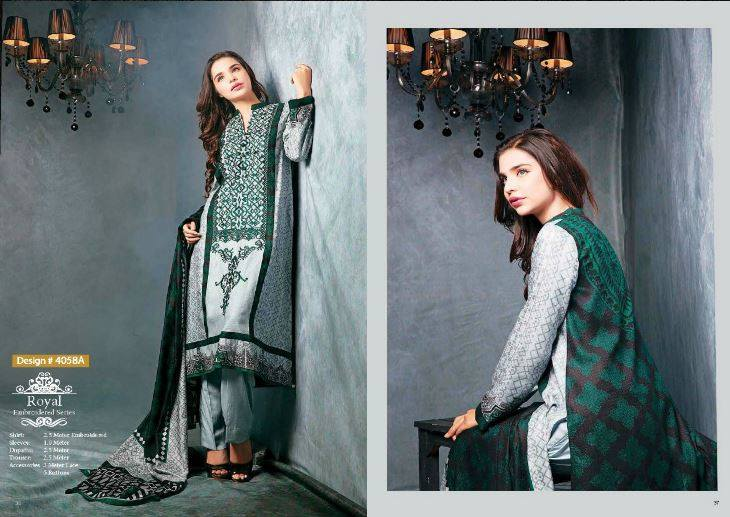 Ittehad Textile Fashionable Embroidery Clothes 2014 -15 (5)